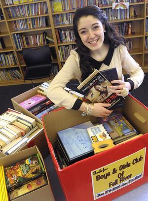 A sweet gesture: Diman sophomore collects books for Boys & Girls Club