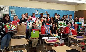 NHS students and their presents