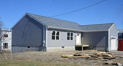 This new house under construction on Duluth Street is being built by Diman students
