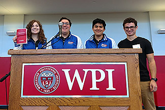 Math team earns invite to WPI