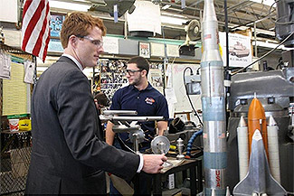 Joe Kennedy tours Diman (file photo)