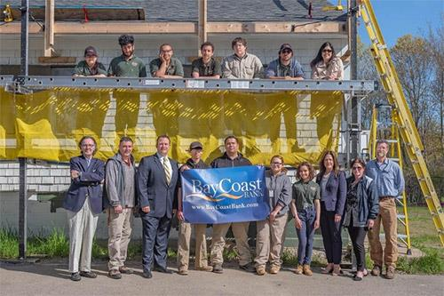 Students from Diman recently preformed roof construction work on the new Bay Coast Rowing Center.