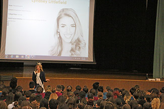 Miss Massachusetts visits Diman