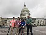 The Diman delegation in front of the Capital