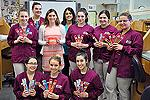 Dental students pose with Mahoney-Pacheco and Department Head Maria Torres