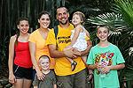 Michaela Gagne Hetzler with her husband, Joshua, and their children, Lorelei, 13, Evan, 12, Andreas,